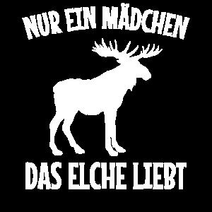 Elch Ein Mädchen Elche Liebt Hirsch Zoo Geschenk