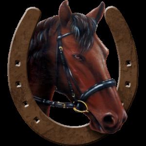 Pferdekopf und Hufeisen