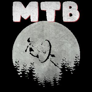 Mountainbiker MTB Mountainbike Sport Mond Geschenk