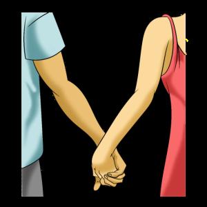 Pärchen hält Händchen - Liebe
