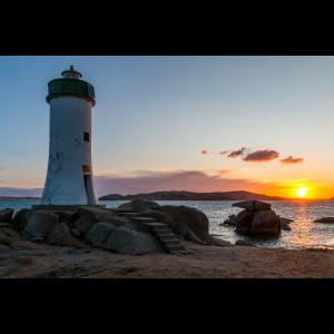 Sardinien Leuchtturm Sonnenaufgang
