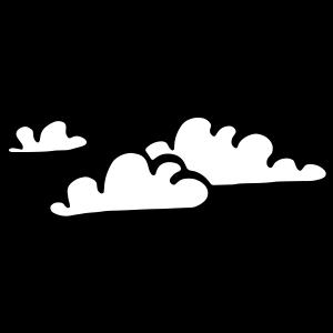 Drei Wolken zweifarbig / 3 clouds two color