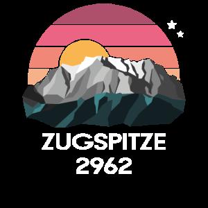 Zugspitze Garmisch Bayern Vintage Low Poly Gipfel