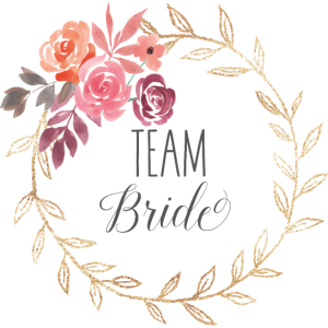 Team bride - JGA - Team Braut - Gold - Blumenkranz