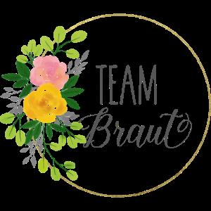 Team Braut - JGA - Team bride - Gold - Blumenkranz
