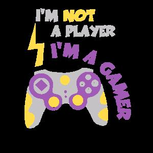 Ich bin kein Spieler Ich bin ein Gamer Shirt Online Gaming M.
