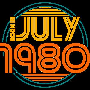 Juli 1980 geboren Geburtstag Geschenk