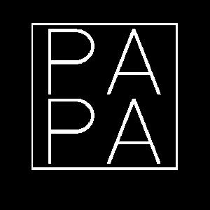 PAPA quadratisches Logo dünne Linie