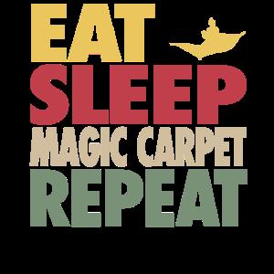 Eat Sleep Magic Carpet Repeat RETRO EDITION