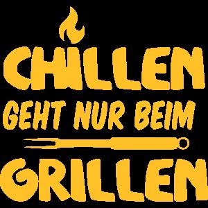 Beim grillen kann man chillen