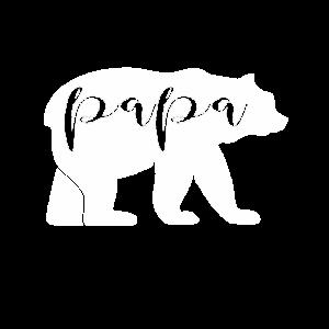 Papa T-Shirt auf einer Bärensilhouette