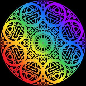 Mandala round chakra