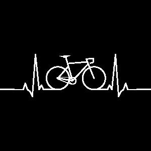 Rennrad Radsport T-Shirt Herzschlag