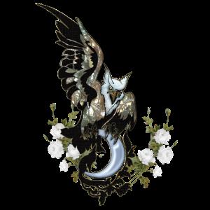 Wunderbarer eleganter Adler mit Federn