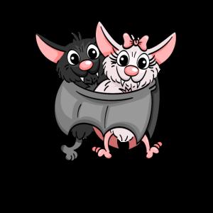 Lieblingsmaus Verliebtes Fledermaus Paar