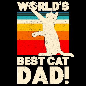 World's Best Cat Dad T-Shirt Funny Cat Dad