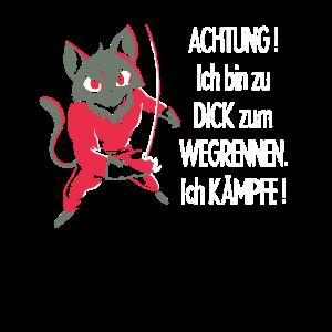 Mollig Katze zu Dick zum Wegrennen