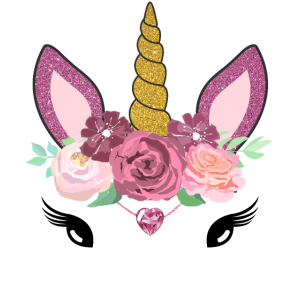 Einhorn Gesicht Mit Blumen Für Frauen Und Mädchen
