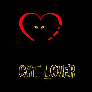 Schwarzer Katzenliebhaber