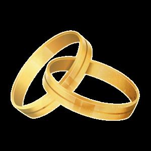 Goldene Ringe, Hochzeit, Verlobung