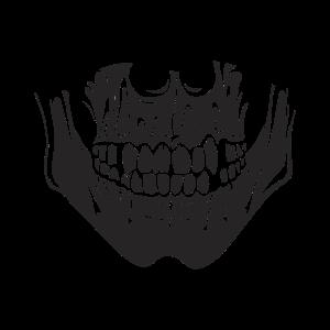 Skull Gesichtsmaske mit coolem Totenkopf Design