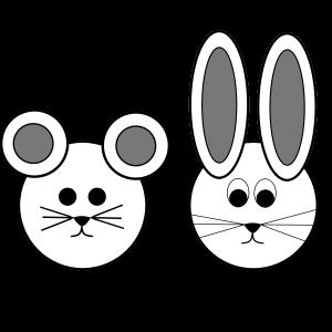 Maus und Hase - best friends - beste Freunde