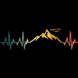 Berge Herzschlag Berg Retro
