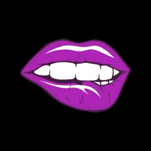 Gesichtsmaske Purple Lips mit Sexy Lippen Design