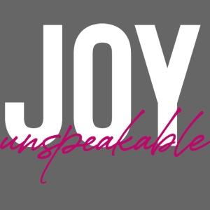 JOY unspeakable pink
