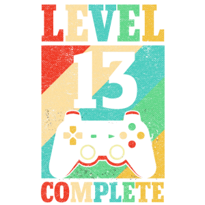 13. Geburtstag Gamer Retro