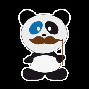 Pandabär Mit Schnurrbart