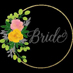bride - JGA - Braut - Gold - Blumenkranz