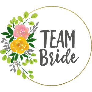 Team bride - JGA - Team Braut - Gold - Blumenkranz