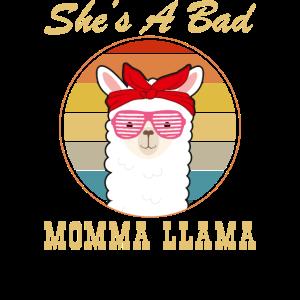Sie ist eine Bad Momma Llama Funny Mama Tierliebhaberin