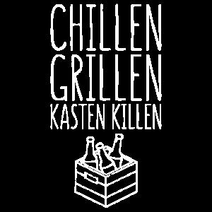 Chillen Grillen Kasten Killen Geschenk