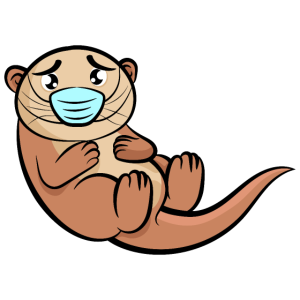 Otter-Baby | Kleines süßes putziges Tier | Welpe