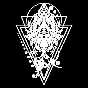 Mandala Lotusblume Blume symmetrisch Geschenk
