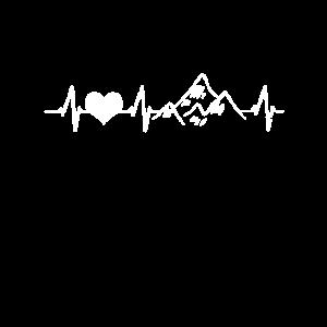 Berge Wandern Herzschlag Herzfrequenz Geschenk