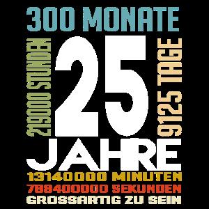 Geburtstag 25 Jahre Geschenkidee