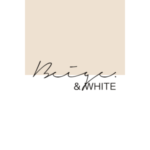 Beige & White