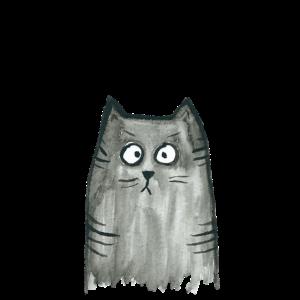 Katzenhaare gehören zum Outfit getigerte Katze