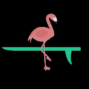 Flamingo Pink Surfbrett
