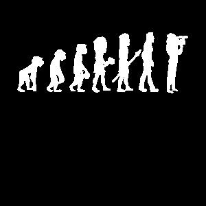 Evolution Kamera Kameramann Video Film Geschenk
