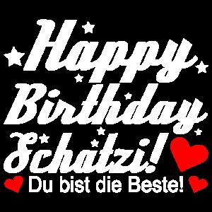happy Birthday Ehefrau Frau Geburtstag Glückwunsch