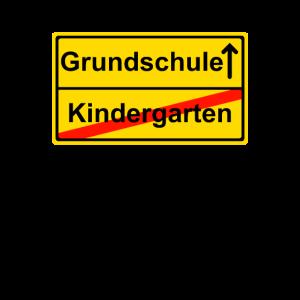 Kindergarten Grundschule Strassenschild