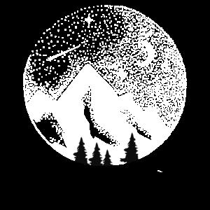Berge und Sterne Weltraumastronomie und im Freien