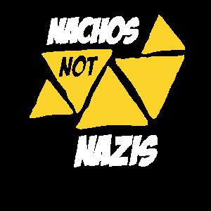 Nachos nicht Nazis Shirt Junk Food Liebhaber T-Shirt Geschenk