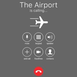 Lentokenttä soittaa - valkoinen