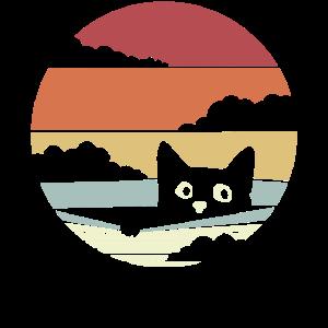 Katze Vintage Retro Jahrgang Cat Katzen