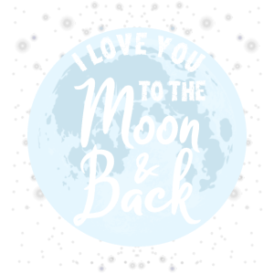 I love you to the moon & back Geschenk Spruch mond